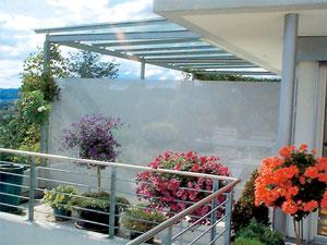 Windschutz und Sichtschutz