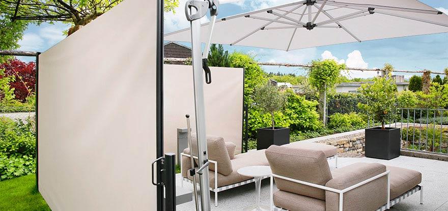 wind und sichtschutz von ombra f r terrasse und garten. Black Bedroom Furniture Sets. Home Design Ideas