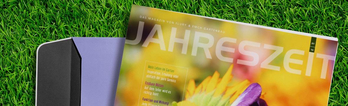 Garten-Kundenmagazin Jahreszeit