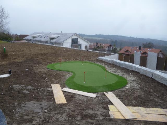 Golfrasen mit Putting Green Bau