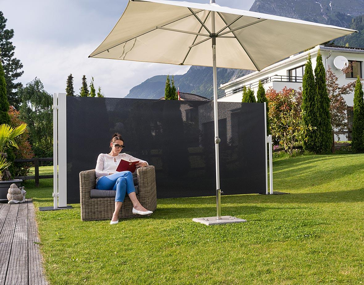 Sichtschutz und Windschutz Lesen im Freien