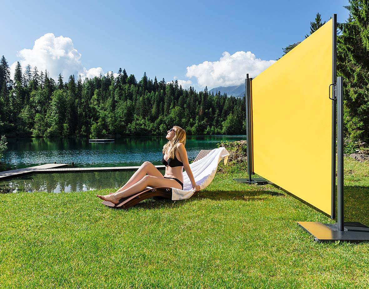 Sichtschutz und Windschutz Badeteich