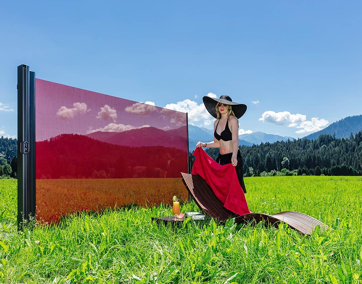 Sichtschutz und Windschutz Picknick im Freien