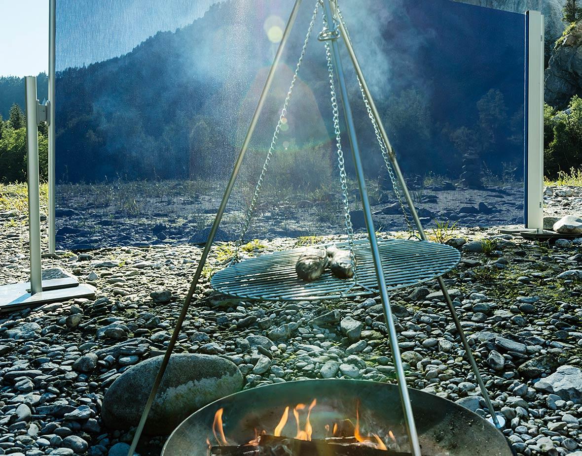 Sichtschutz und Windschutz beim Grillen