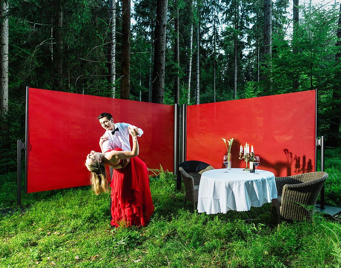 Sichtschutz und Windschutz Picknick