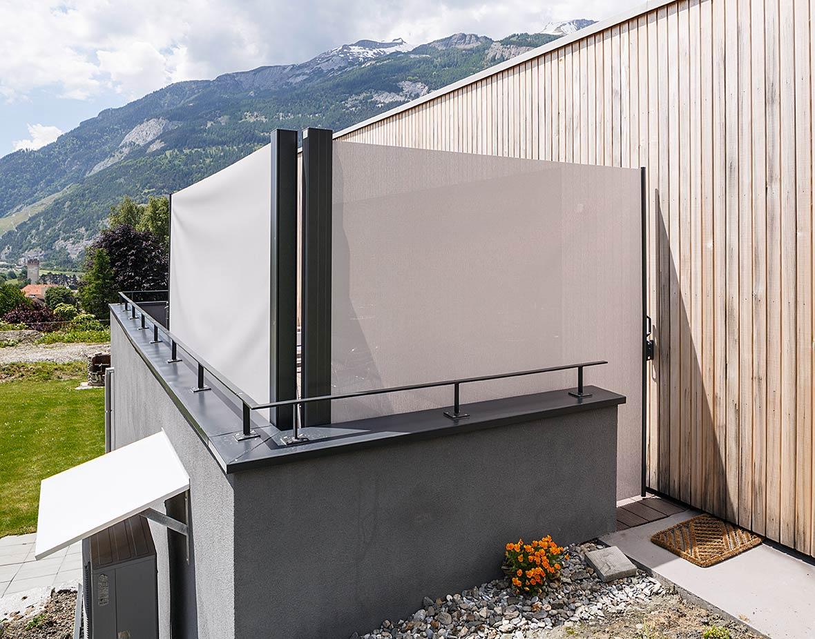 Sichtschutz und Windschutz Balkon