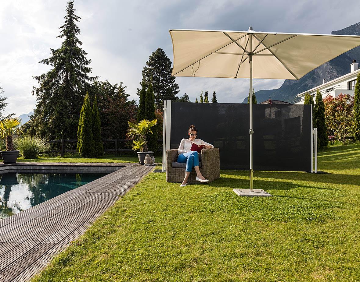 Sichtschutz und Windschutz Garten und Pool